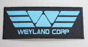 "PROMETHEUS PATCH Alien Weyland Corporation 4.5"" Logo costume Corp, prop replica"